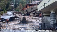 Italien Überflutungen in Piemont