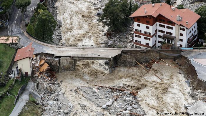 Frankreich Saint-Martin-Vesubie Überflutungen