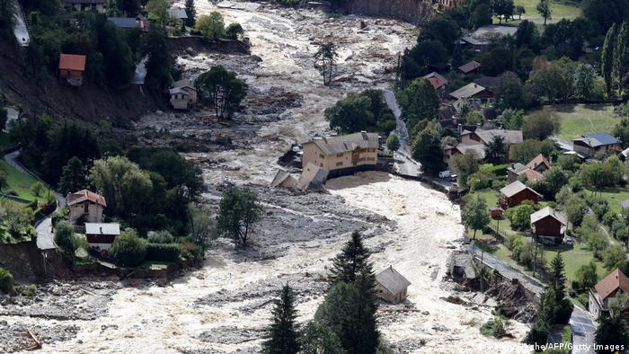 Frankreich Roquebilliere Überflutungen
