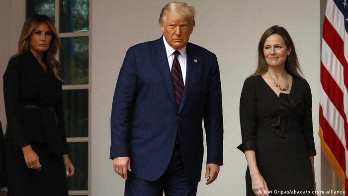 US — Washington: Melania Trump, Donald Trump and Amy Coney Barrett