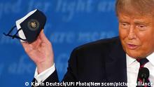 USA TV Debatte Donald Trump mit Maske