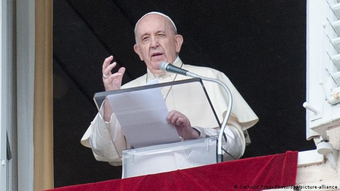 Pope Francis speaks at the Vatican on October 4