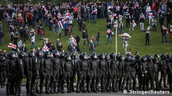 Протесты против Лукашенко в Минске, октябрь 2020