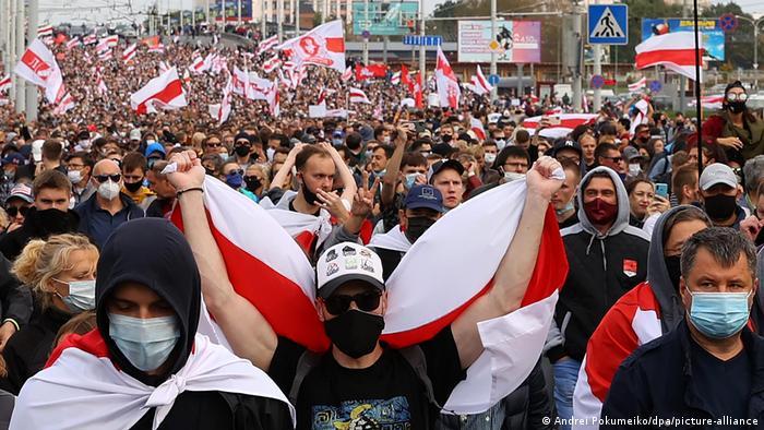 Марш в Минске, 4 октября 2020