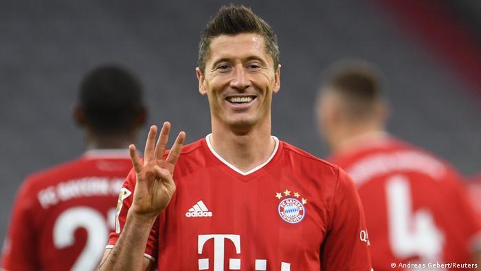 Robert Lewandowski just loves scoring goals