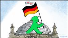 DW Karikatur Vladdo, Reunificación en marcha, via José Urrejola