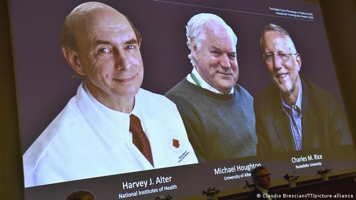 Nobelpreis für Medizin 2020 Harvey J. Alter, Michael Houghton, Charles M. Rice
