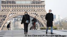 Frankreich Corona Maßnahmen ARCHIV (Eco Clement/UPI Photo/Imago Images)