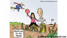 Karikatur l BG US Wahl 1. Wahlkampf englisch