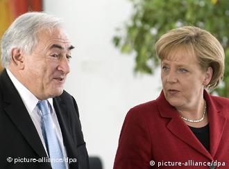 Ντ. Στρος-Καν και Άγκ. Μέρκελ στο Βερολίνο