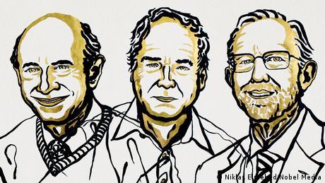 Drawings of medicine Nobel Prize winners (Niklas Elmehed/Nobel Media)