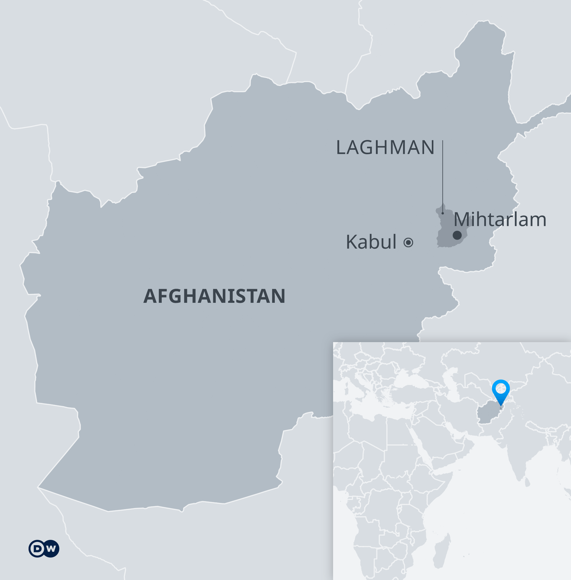 Karte Afghanistan Laghman Mihtarlam