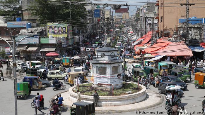 Traffic in Islamabad, Pakistan ahead of the Eid holidays