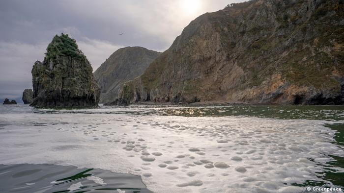 Халактырский пляж на берегу Авачинского залива Тихого океана
