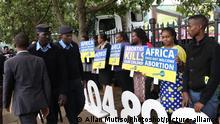 Kenia |Protest Abtreibungsgegner in Nairobi