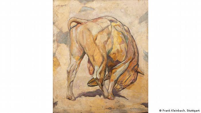 Arnold Waldschmidt painting 'Stier' from 1933-34 (Frank Kleinbach, Stuttgart)