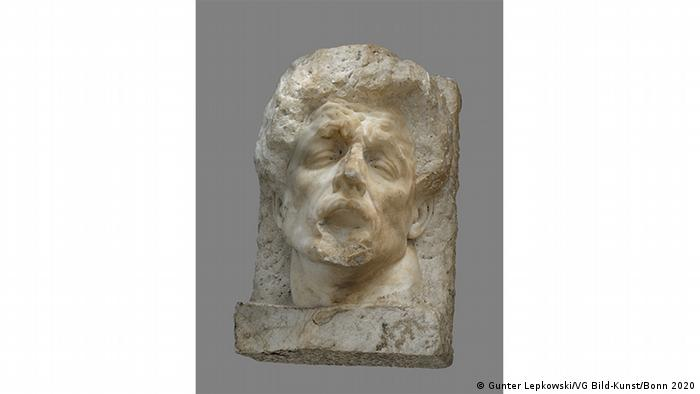 Sculpture depicting face of a man, possibly attributed to Arno Breker, Marble 86 x 57 x 52 cm