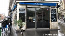 Frankreich I Lockdown I Bar in Paris geschlossen