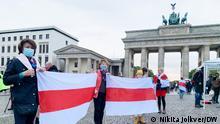 Deutschland / Weißrussland Solidarität mit Swetlana Tichanowskaja
