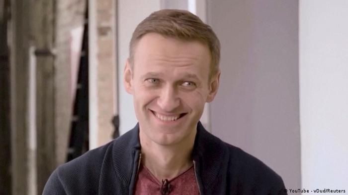 Алексей Навальный во время интервью Юрию Дудю