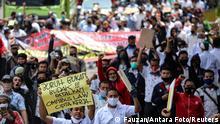 Indonesien Protest gegen Arbeitsreformen