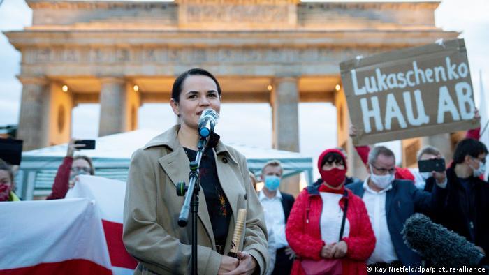 Светлана Тихановская на встрече со сторонниками в Берлине