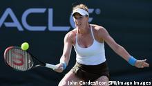 USA Die US-Amerikanische Tennisspielerin Madison Brengle bei einm Match