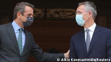 Griechenland Athen Premierminister Kyriakos Mitsotakis und Nato-Generalsekretär Jens Stoltenberg