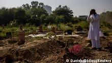 Coronavirus | Indien Neu Delhi | neue Gräber für Covid-19-Opfer