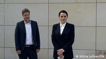 Светлана Тихановская и сопредседатель партии зеленых Роберт Хабек