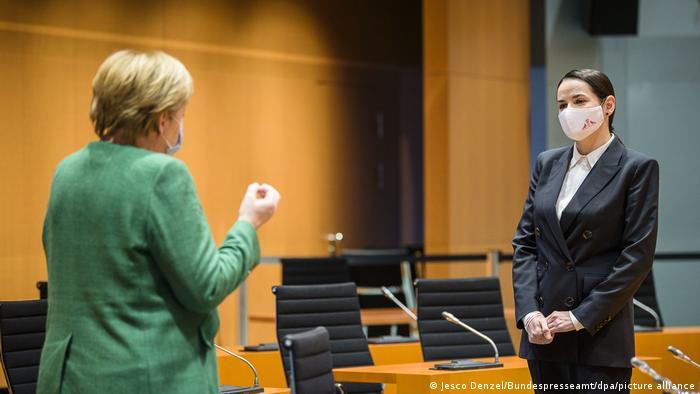 Федеральный канцлер Германии Ангела Меркель встретилась со Светланой Тихановской