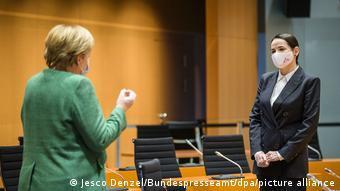 Ангела Меркель на встрече со Светланой Тихановской