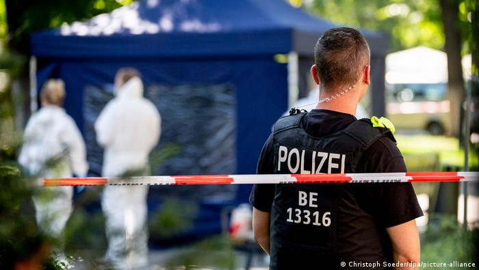На месте убийства Хангошвили в Берлине
