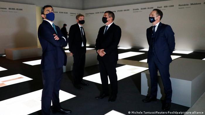 Deutschland Maas empfängt Außenminister Israels und der Emirate