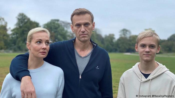 Alexej Nawalny mit Frau und Sohn