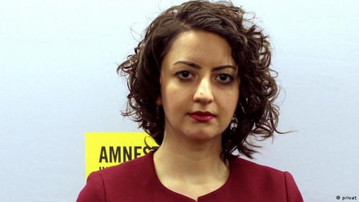 رها بحرینی، یکی از اعضای سازمان عفو بینالملل