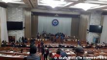 Kirgisistan l Prostest nach Parlamentswahl im Parlament