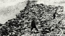 Deutschland l Ende Zweiter Weltkrieg - KZ Bergen-Belsen, Grube mit Leichen