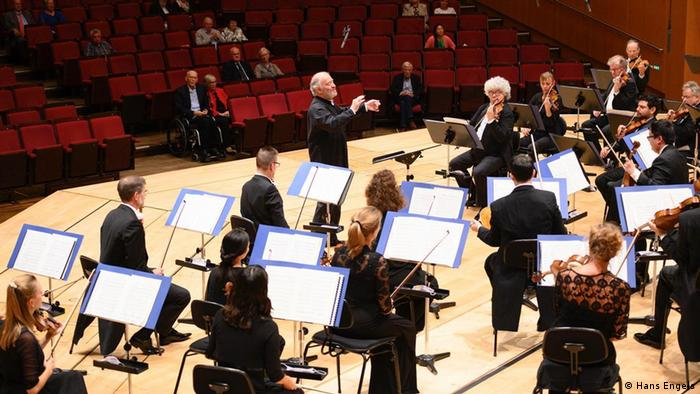 Valery Gergiev and the Munich Philharmonic make music onstage with just a few audience members in attendance