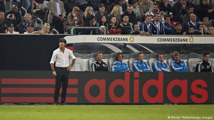 Fußball DFB Länderspiel in Frankfurt | Adidas Werbung