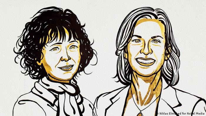 Nobelpreis für Chemie 2020 Emmanuelle Charpentier, Jennifer A. Doudna (Niklas Elmehed for Nobel Media)