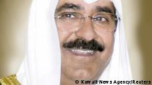 Sheikh Meshal al-Ahmad al-Jaber al-Sabah, who was named as Kuwait's crown prince, is seen in this undated handout photo. Kuwait News Agency/Handout via REUTERS ATTENTION EDITORS - THIS IMAGE WAS PROVIDED BY A THIRD PARTY. NO RESALES. NO ARCHIVES.
