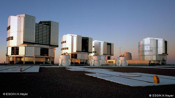 The four main units for the Very Large Telescope (VLT) in Paranal