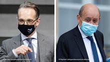 Deutschland Frankreich Bildkombo der beiden Außenminister Heiko Maas und Jean-Yves Le Drian