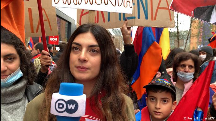 Armenian protesters in Brussels