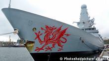 Urkaine Britischer Zerstörer Dragon vor Odessa