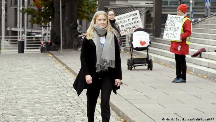 16-year-old Aava Murto in Helsinki