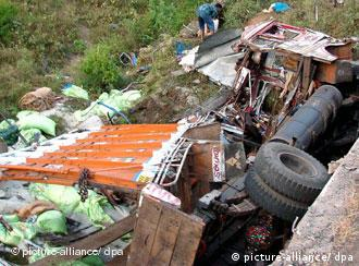 A truck accident in India's central state of Madhya Pradesh
