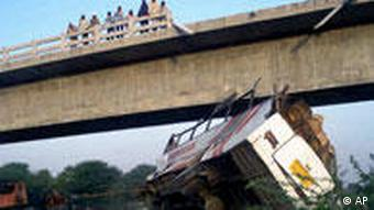 A bus fell from a bridge into a dry riverbed in northwestern India last month, killing at least 26 students and teachers on board