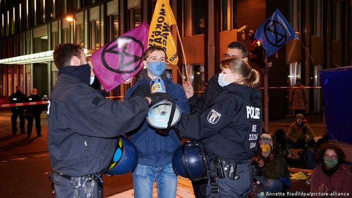 Extinction Rebellion demonstration in Berlin